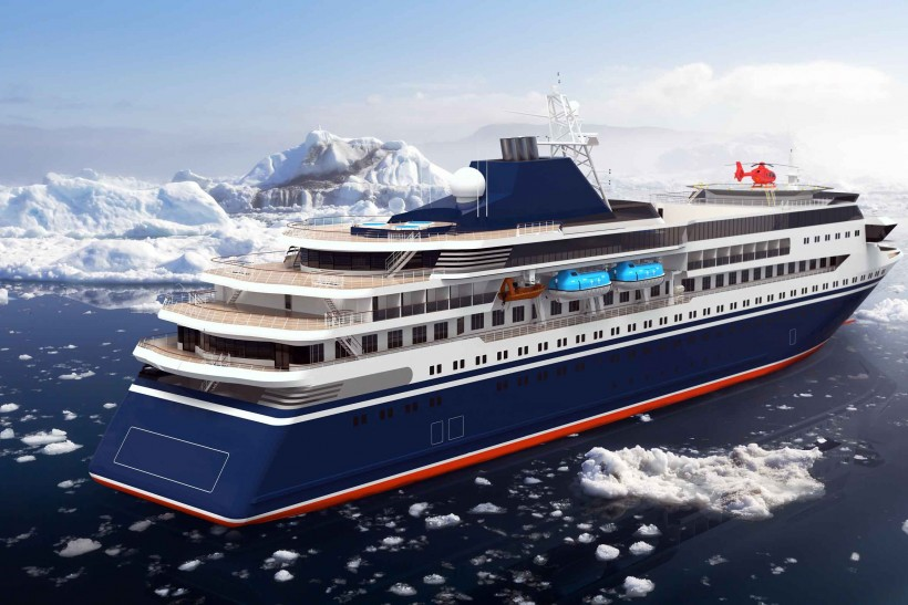 Cruise ship designed for the ice