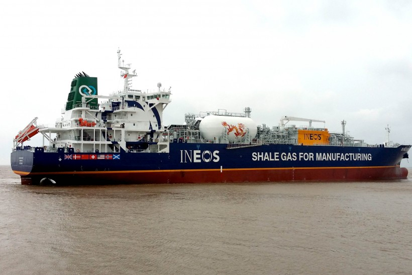 Keel laid for ethane-powered ship