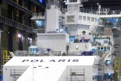 Icebreaker Polaris named at Helsinki Shipyard
