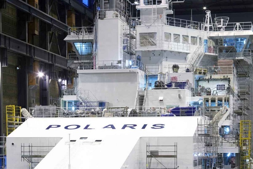 Icebreaker Polaris named at Helsinki Shipyard