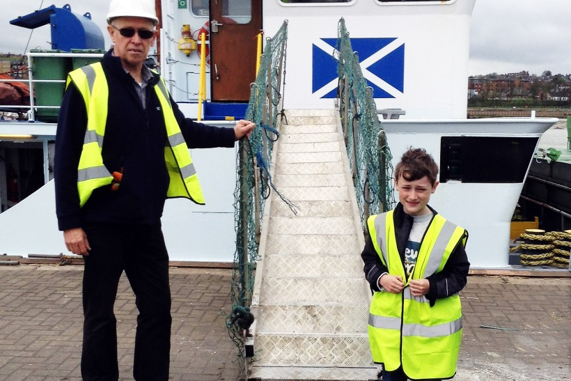 Scotline Welcomes Young Seafarer