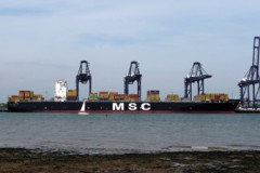 CONTAINER SHIP: New service at Felixstowe