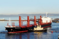 BULKER: Maiden voyage to Leith