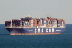 CONTAINER SHIP: Largest container ship to visit Brixham
