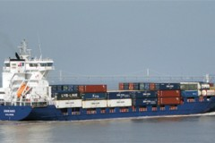 Container ships: Endeavor in South Wales