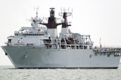 ROYAL NAVY: Bulwark back to front