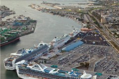 CRUISE CALLERS: Packed piers but fewer passengers
