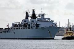 ASSAULT VESSEL: HMS Bulwark Supports Boat Show