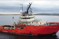 NORTH SEA ACCIDENT: Drill platform collision