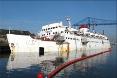 PRESERVED FERRY: Historic ferry sinking