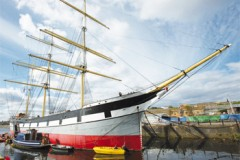PRESERVED SHIP: Tall Ship on the move