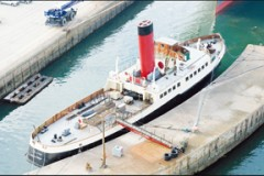PRESERVED TUG: Calshot moves house