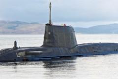 ROYAL NAVY: Astute submarine shooting
