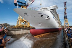 NEW CRUISE SHIP: Costa's latest launched in Venice