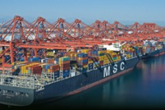 CONTAINER SHIP: Largest box ship ever in the US