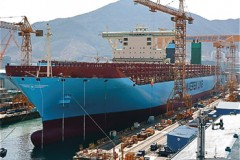 Container ships: First Triple-E floated