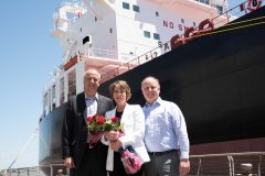 Crowley Christens tanker Louisiana