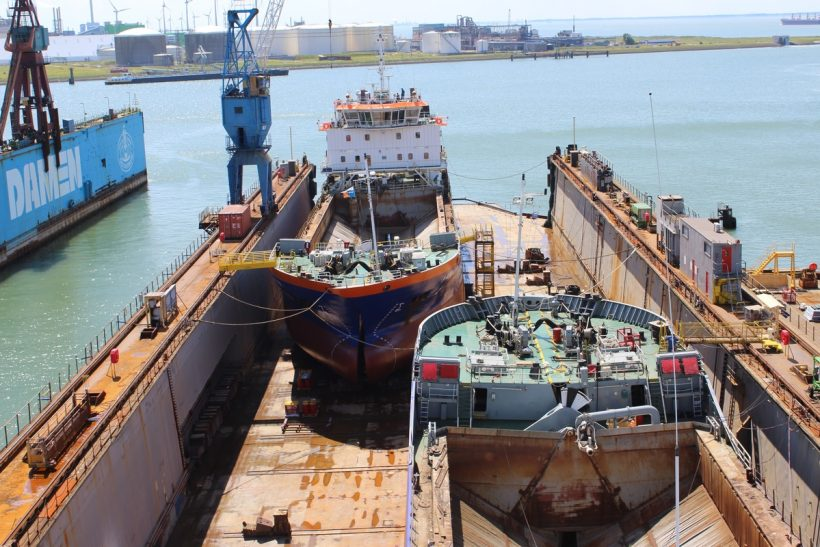Damen Shiprepair Works on Hopper Barges