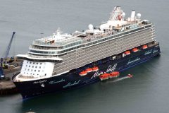 Mein Schiff 5 maiden call at Portland