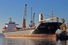 Largest cargo ship visits Poole