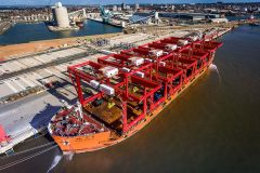 Latest cranes arrive in Mersey for Liverpool2 development