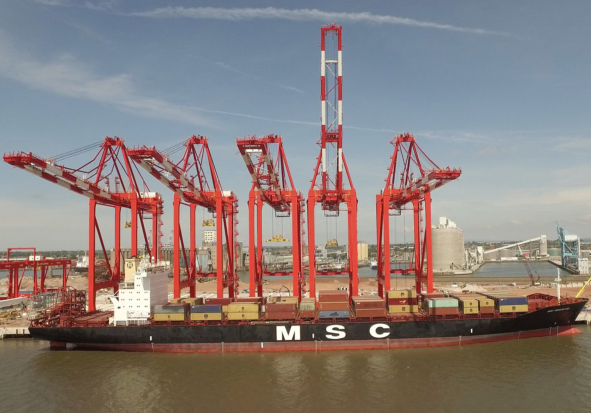 Transatlantic Bridge >> Official opening of Liverpool Container Terminal | Ships Monthly