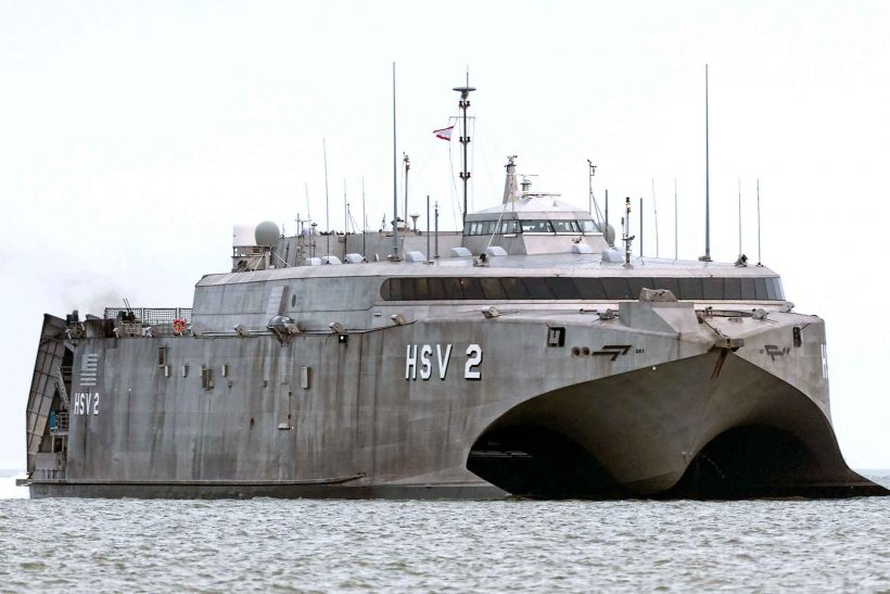 Former US Navy catamaran destroyed in Red Sea
