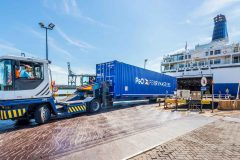 P&O Ferries 50 year freight record at Zeebrugge