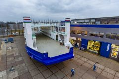 Ro-pax passenger ferry hull launched at Amsterdam