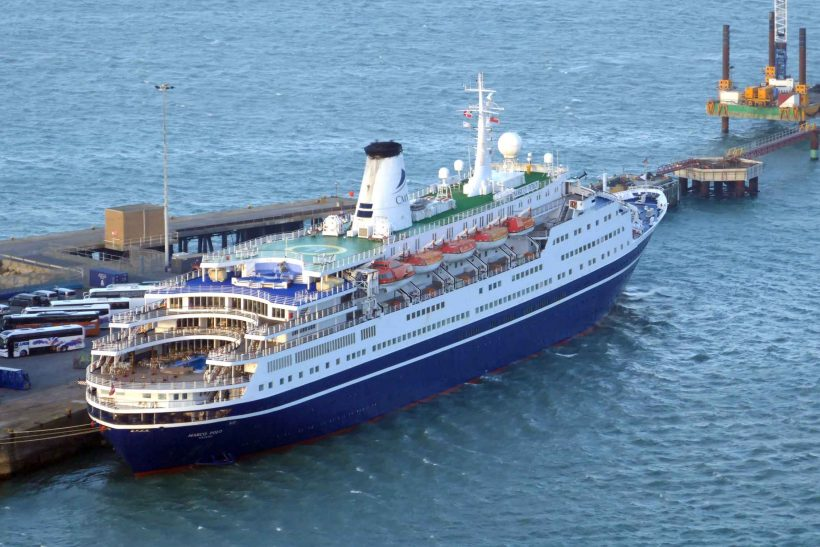Marco Polo diverted to Portland due to bad weather