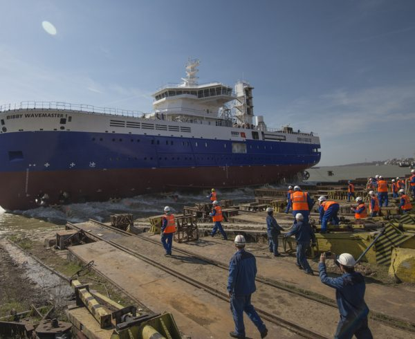Bibby WaveMaster 1 launched at Damen Shipyards