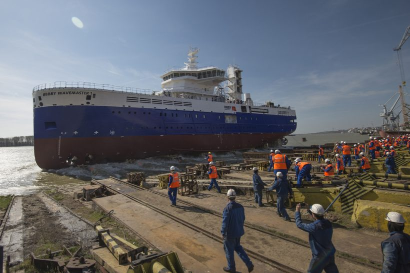 Bibby WaveMaster 1 launched at Damen Shipyards Galati