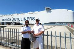 Durban Pilots Car Carrier in Rough Sea Conditions