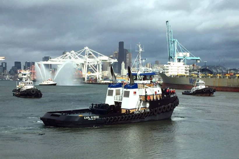 SCR Tugboat christened in America