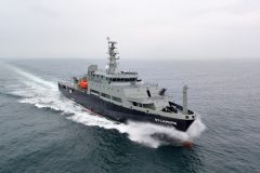Successful sea trials for Multi-role training vessel