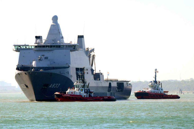 Southampton hosts Dutch Naval vessel HNLMS Karel Doorman
