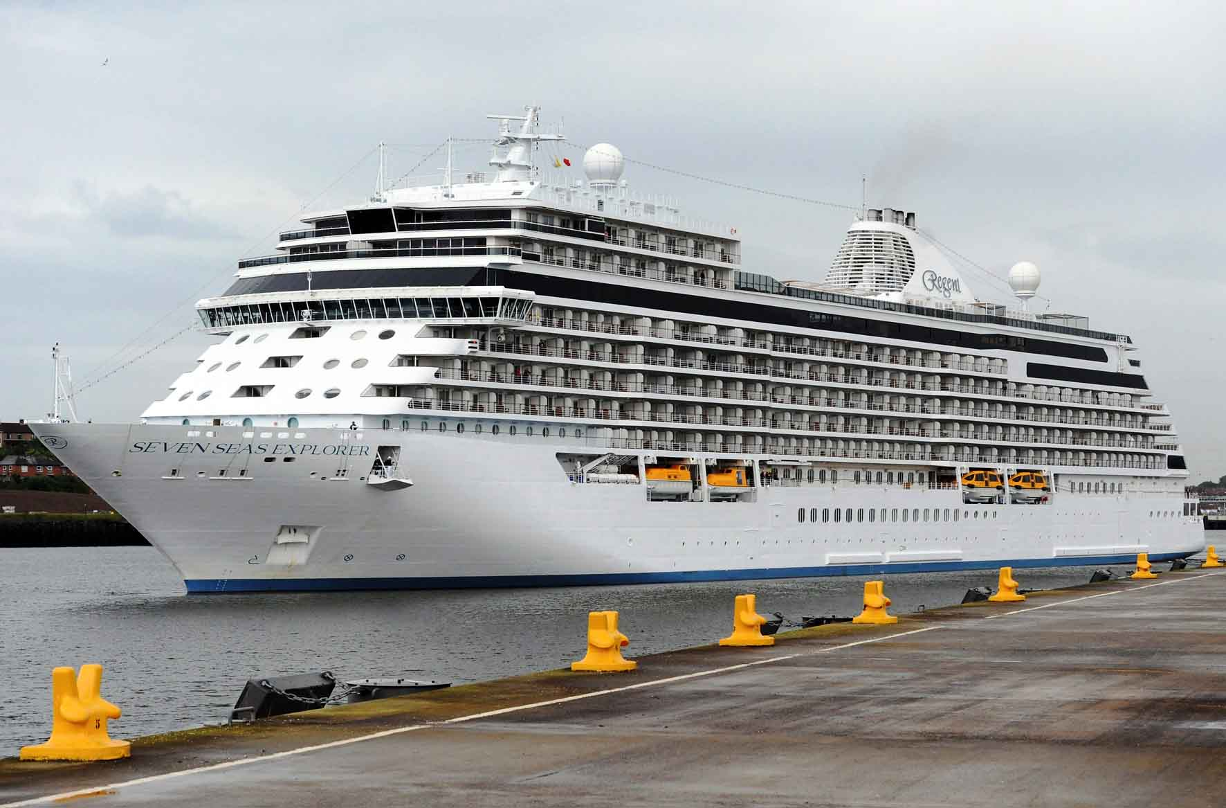 Port of tyne welcomes cruise ship seven seas explorer for High end cruise lines