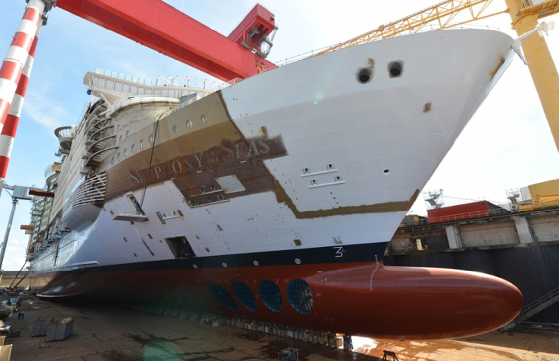 Royal Caribbean S Symphony Of The Seas Floated Out Of Dry Dock Ships Monthly