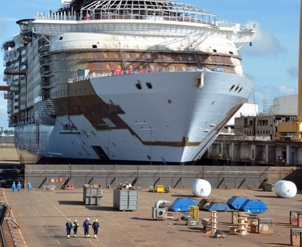 Royal Caribbean's Symphony of the Seas floated out of dry dock