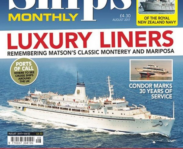 SHIPS MONTHLY AUGUST 2017 ISSUE NOW AVAILABLE
