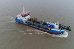 Damen dredger on way to Gippsland Ports