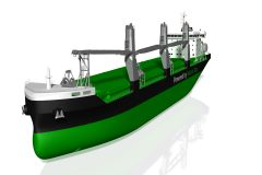 Remote-controlled cranes for LNG-fueled bulkers