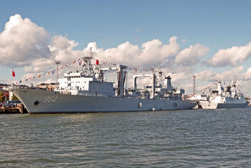 Three Chinese Navy vessels visit Helsinki