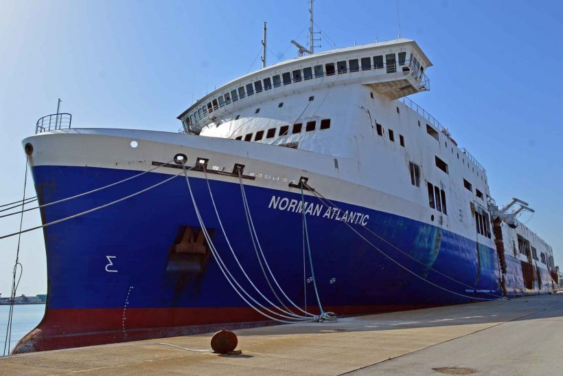 Norman Atlantic stranded in Bari