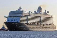 Largest cruise ship ever to visit the Thames