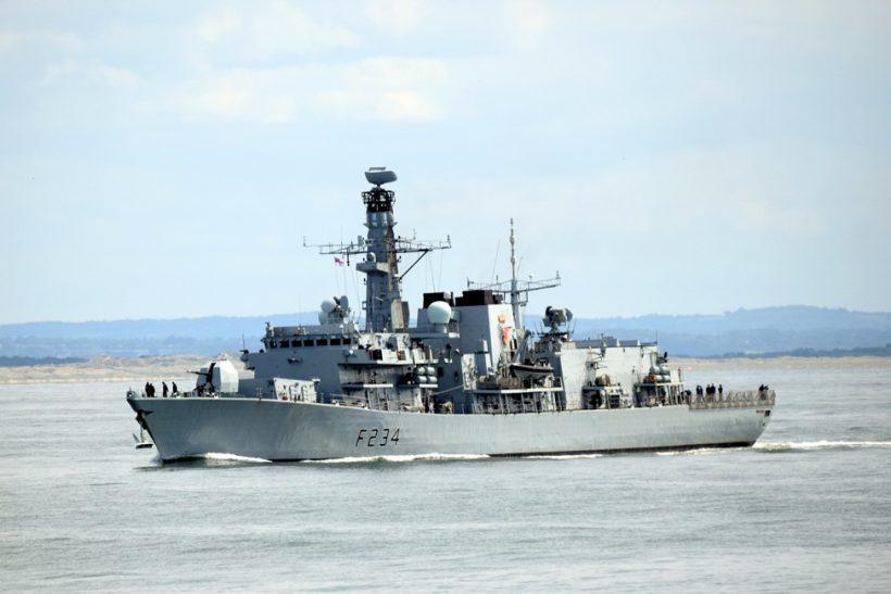 Royal Navy frigates moved round