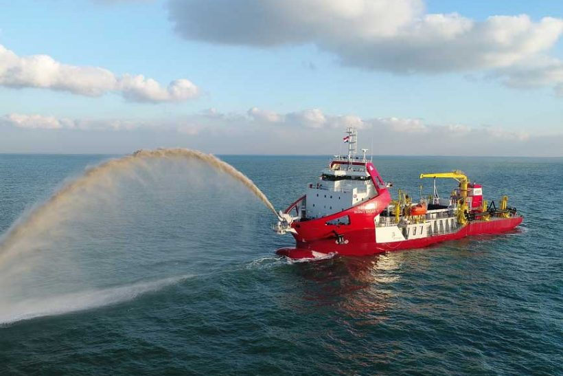 Largest dredger built to IRClass delivered in Europe