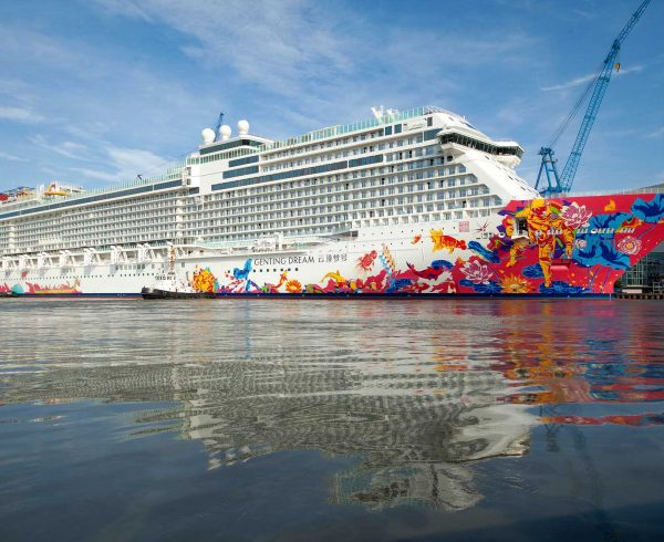 New cruise ship World Dream named In Hong Kong