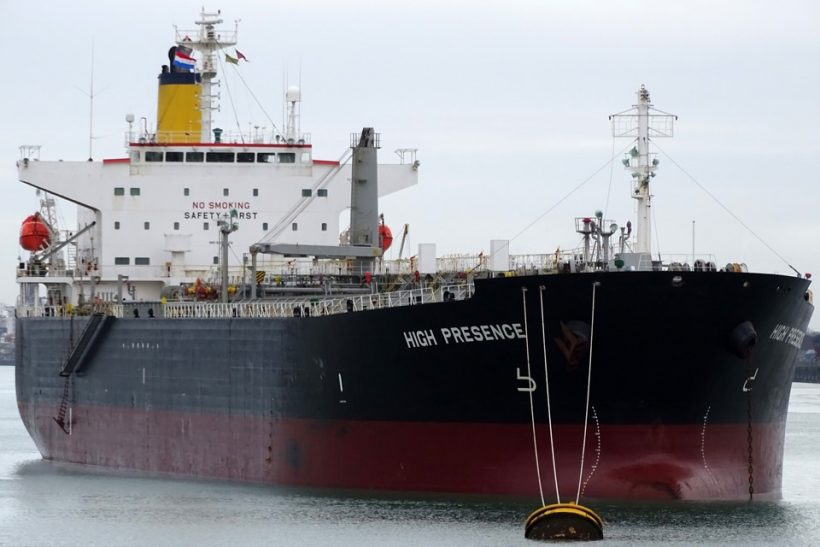 Sale announced of the MR vessel High Presence