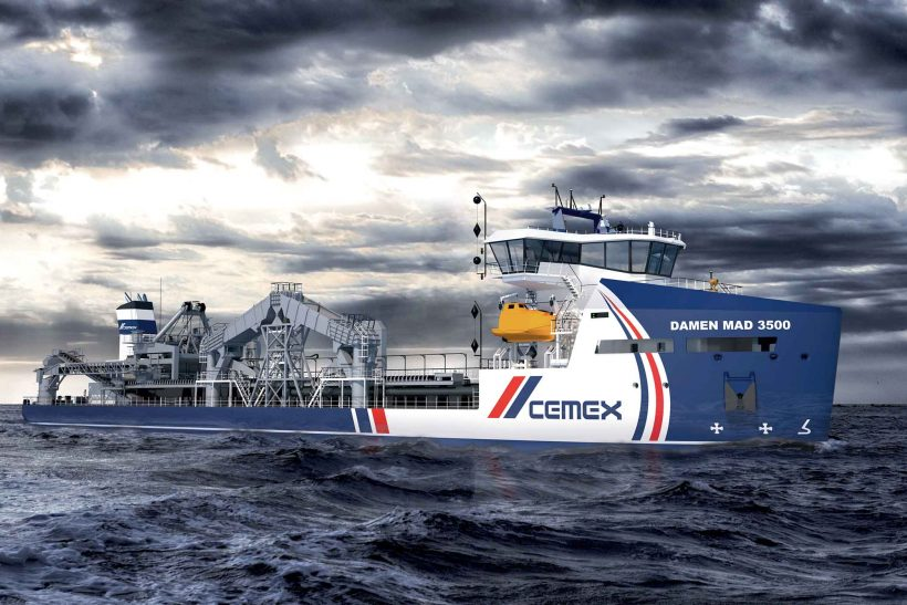 Next generation dredger design developed by CEMEX, Damen and LR